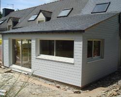 Morvan Charpente - Naizin - Nos réalisations - Extension en bois
