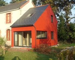 Morvan Charpente - Kerfourn - Nos réalisations - Extension en bois